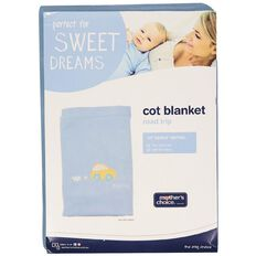 Mother's Choice Cot Blanket - Road Trip Blue