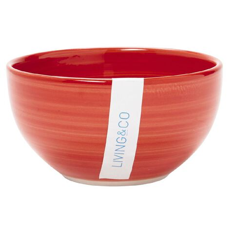 Living & Co Hand Painted Bowl Red 5.5 inch