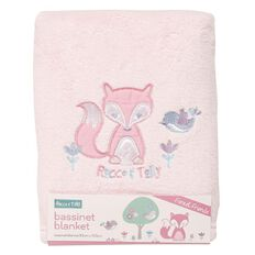 Rocco And Tolly Forest Friends Coral Fleece Bassinet Blanket