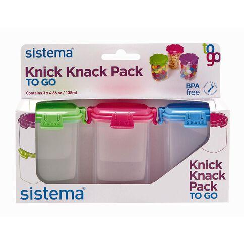 Sistema Knick Knack To Go Medium 3 Pack Assorted Colours