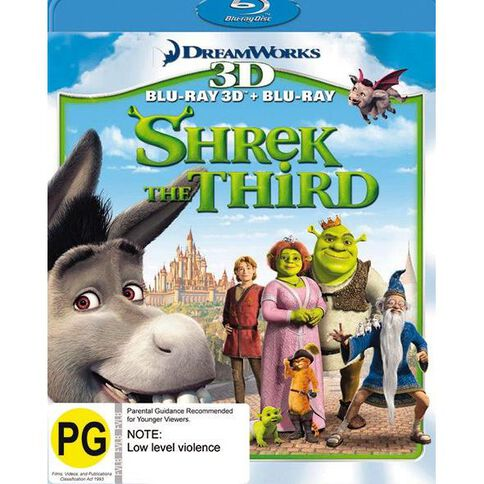 Shrek the Third 3D Combo Blu-ray + 3D Blu-ray 2Disc