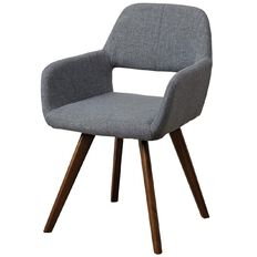 Living & Co Dining Chair Fabric Charcoal