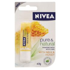 Nivea Lip Pure & Natural Milk and Honey 4.8gm