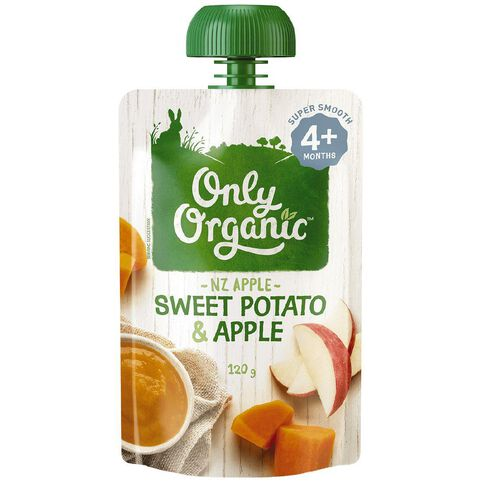 Only Organic Sweet Potato & Apple 120g