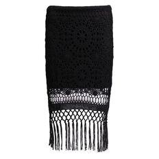 Garage Crochet Tassel Mini Skirt