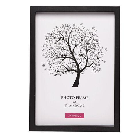 Living & Co Frame Eden Black A4