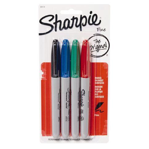 Sharpie Permanent Marker Assortment 4 Pack