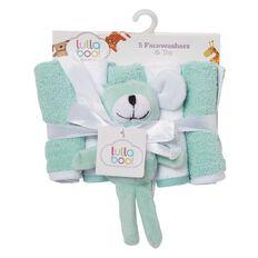Lullaboo Novelty Towel and Facewasher Set Mint