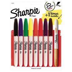 Sharpie Fine Assortment 8 Pack with Bonus