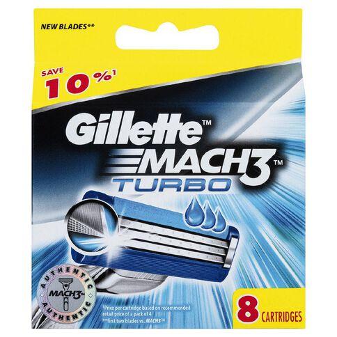 Gillette Mach3 Turbo Blades 8 Pack