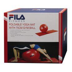 Fila Yoga Kit Foldable Mat & Anti-Burst Fit Ball