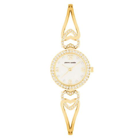 Pierre Cardin Ladies' Gold Heart Bracelet Watch