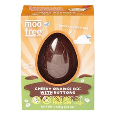 Moo Free Cheeky Orange Easter Egg and Buttons 120g