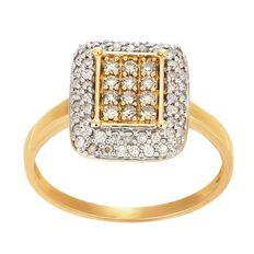 1/2 Carat of Diamonds 9ct Gold Diamond Rectangle Ring