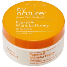 By Nature Body Butter Papaya/Manuka Honey 250gm