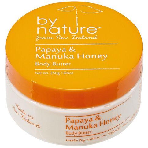 By Nature Body Butter Papaya/Manuka Honey 250gm