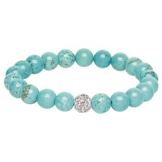 Turquoise Crystal Ball Bracelet Box Set