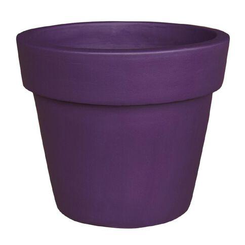 Painted Terracotta Pot Purple 35cm x 30cm
