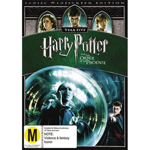 Harry Potter And The Order Of The Phoenix DVD 1Disc