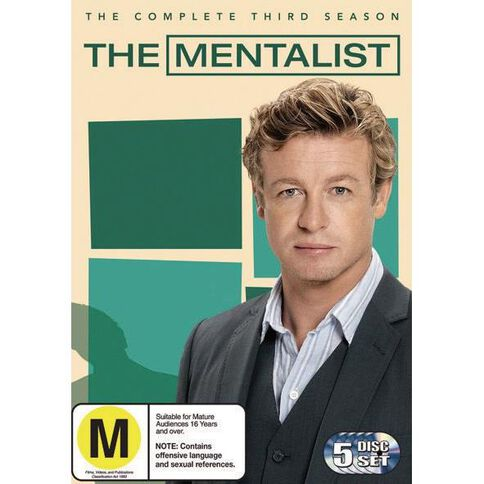 The Mentalist Season 3 DVD 5Disc