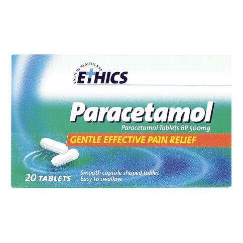 Ethics Paracetamol 500mg Tablets 20s - LIMIT OF 1 PER CUSTOMER