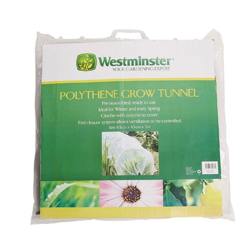 Westminster Polythene Grow Tunnel 300cm L x 65cm W x 45cm