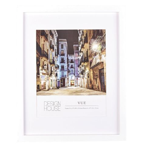 Design House Frame Vue White 20cm x 25cm (8in x 10in)