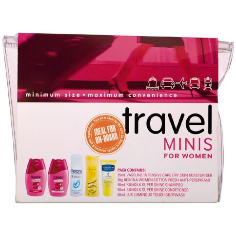 Rexona Unilever Travel Set Mini's For Women