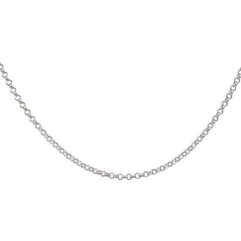 Sterling Silver 50 Gauge Belcher Chain 50cm