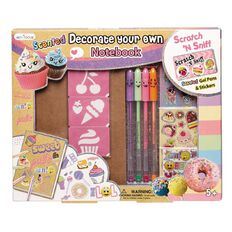 Princess Kits Hot Focus DYO Scented Notebook Sweets