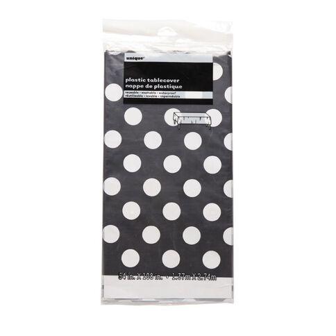 Unique Table Cover Dots Black  137 x 274cm