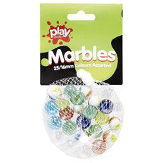 Play Studio Marble Set Assorted Colours 16mm 25 Pieces