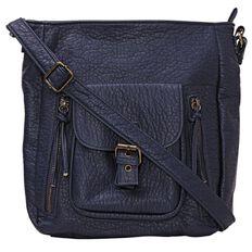 Debut Washed PU Double Zip Handbag