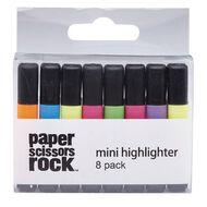 Paper Scissors Rock Mini Highlighter 8 Pack