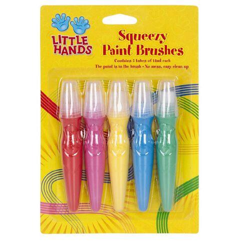Little Hands Squeezy Brush Paints 14ml 5 Pack