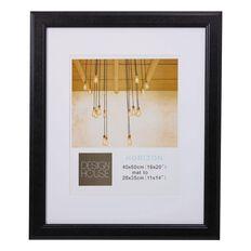 Design House Horizon Frame Black 40cm x 50cm Matt to 11in x 14in