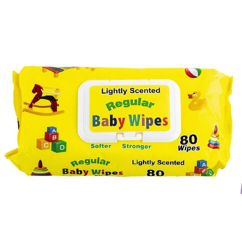 Regular Baby Wipes Fragranced 80 Pack