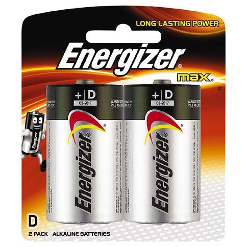 Energizer Max Batteries D 2 Pack