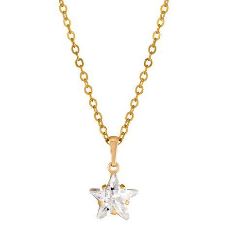 9ct Gold CZ Star Pendant