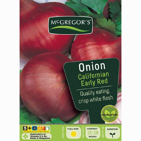 McGregor's California Early Red Onion Vegetable Seeds