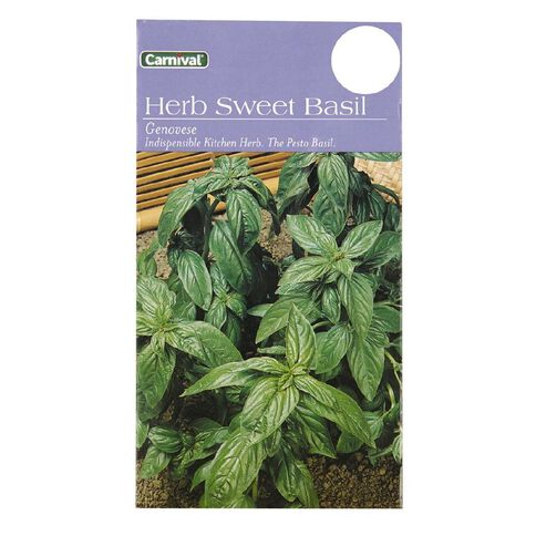 Carnival Seeds Herb Sweet Basil Genovese