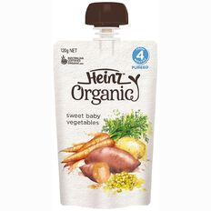 Heinz Organic Sweet Baby Vegetable Pouch 120g