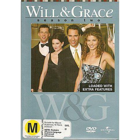 Will and Grace Season 2 DVD 6Disc