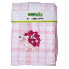 Babywise Fleece Check Blanket