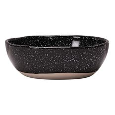 Living & Co Bowl Speckled Black 7 inch