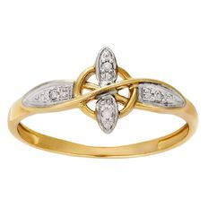 9ct Gold Diamond Fancy Dress Ring