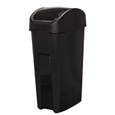 Living & Co Rubbish Bin Slim Line Flip Top Black 55L
