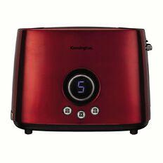 Kensington Toaster 2 Slice Stainless Steel Digital Red