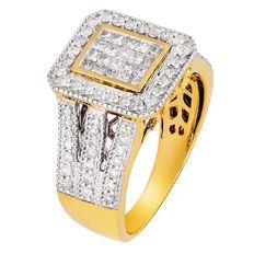 1 Carat of Diamonds 9ct Gold Diamond Fancy Dress Ring