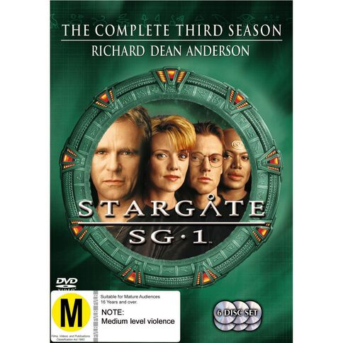 Stargate SG1 Season 3 DVD 6Disc